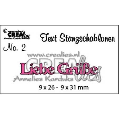 Crealies CLTSS02 - Crealies Tekststans (DE) Liebe Grüße 9x26-9x31mm  / 02