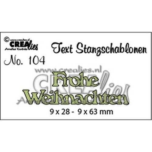 Crealies CLTSS104 - Crealies Tekststans (DE) Frohe Weihnachten 9x28-9x63mm  / 104