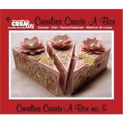 CCAB05 - Crealies Create A Box no. 5 piece of cake 13,5 x 18,3 cm / 5