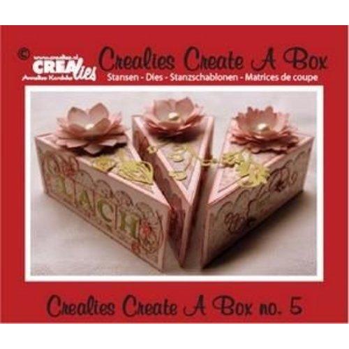 Crealies CCAB05 - Crealies Create A Box no. 5 piece of cake 13,5 x 18,3 cm / 5