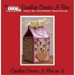 CCAB06 - Crealies Create A Box no. 6 milk carton 14,0 x 16,2 cm / 6