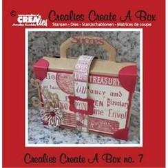 CCAB07 - Crealies Create A Box no. 7 Suitcase 14,6 x 15,3 cm / 7