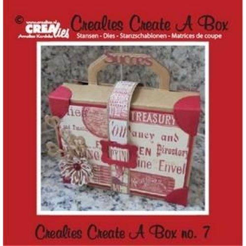 Crealies CCAB07 - Crealies Create A Box no. 7 Suitcase 14,6 x 15,3 cm / 7