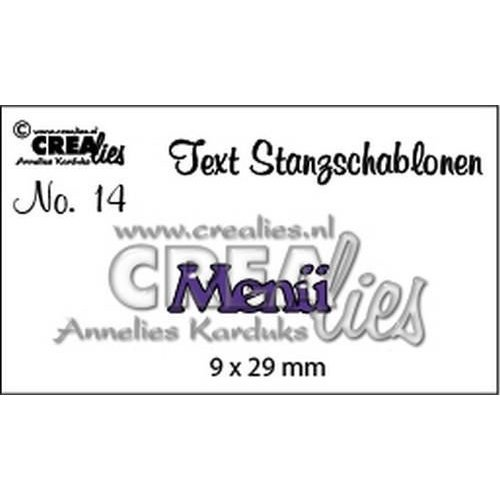Crealies CLTSS14 - Crealies Tekststans (DE) nr 14 Menü 9x29 mm  / 14