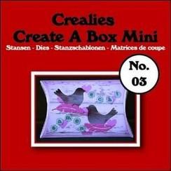 CCABM03 - Crealies Create A Box Mini no. 03 Kussendoosje 87x138mm / 03