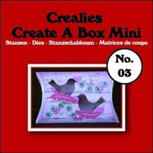 Crealies CCABM03 - Crealies Create A Box Mini no. 03 Kussendoosje 87x138mm / 03