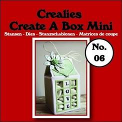 CCABM06 - Crealies Create A Box Mini no. 06 Melkpak 105x125mm / 06