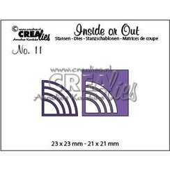 CLIO11 - Crealies Insider or Out Corners E rond 1 23 x 23 mm - 21 x 21 mm