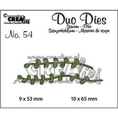 CLDD54 - Crealies Duo Dies no. 54 Blaadjes 9 4 9x53 mm - 10x65 mm
