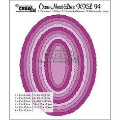 CLNestXXL94 - Crealies Crea-Nest-Lies XXL no 94 Ovalen met ruwe randen tXXL94 125 x 165mm