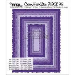 CLNestXXL95 - Crealies Crea-Nest-Lies XXL no 95 Rechthoeken met ruwe randen tXXL95 125 x 165mm
