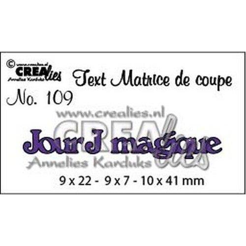 Crealies CLTM109 - Crealies Tekststans (FR) Jour J magique 09 9 x 22 - 9 x 7 - 10 x 41mm