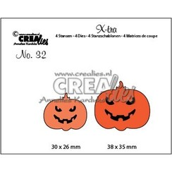 CLXtra32 - Crealies X-tra no. 32 Griezelige pompoenen a32 38 x 35 mm - 30 x 26 mm