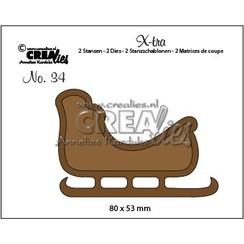 CLXtra34 - Crealies X-tra no. 34 Slee a34 80 x 53 mm