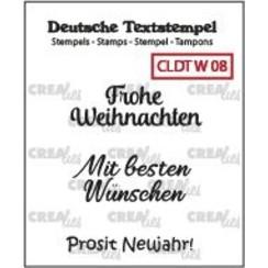 CLDTW08 - Crealies Clearstamp Tekst (DE)  So Frohe Weihnachten (08) 08 34 mm
