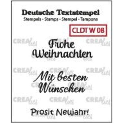 Crealies CLDTW08 - Crealies Clearstamp Tekst (DE)  So Frohe Weihnachten (08) 08 34 mm