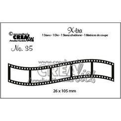 CLX-tra35 - Crealies X-tra no. 35 Gebogen filmstrip klein ra35 26x105mm