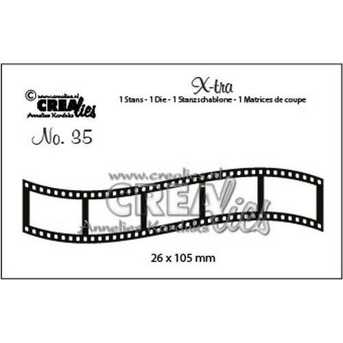 Crealies CLX-tra35 - Crealies X-tra no. 35 Gebogen filmstrip klein ra35 26x105mm