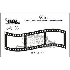 CLX-tra36 - Crealies X-tra no. 36 Gebogen filmstrip middel ra36 39x105mm