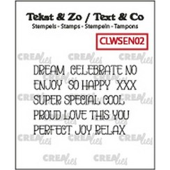CLWSEN02 - Crealies Clearstamp Text&Co ENG word strips Dream (ENG) N02 4mm