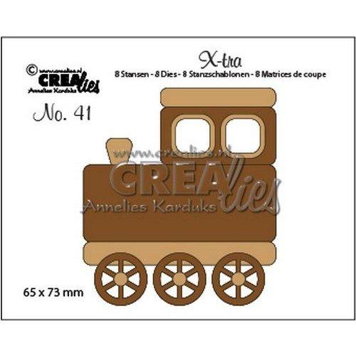 Crealies CLX-tra41 - Crealies X-tra no. 41 Trein (middel) ra41 65x73mm