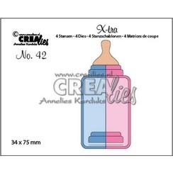 CLX-tra42 - Crealies X-tra no. 42 Zuigfles (middel) ra42 34x75mm