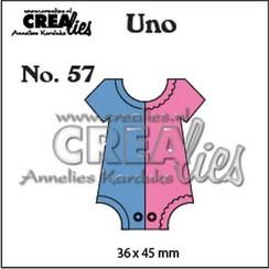 CLUno57 - Crealies Uno nr. 57 Romper(klein) 57 36x45mm