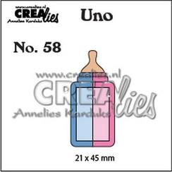 CLUno58 - Crealies Uno nr. 58 Zuigfles (klein) 58 21x45mm