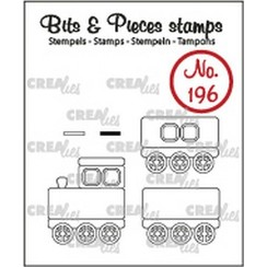 CLBP196 - Crealies Clearstamp Bits&Pieces Trein + wagons 96 max. 19x22mm