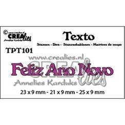 TPT101 - Crealies Texto  Feliz Ano Novo (PT) 1 23 x 9 mm - 21 x 9 mm - 25 x 9 mm