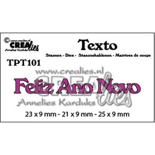 Crealies TPT101 - Crealies Texto  Feliz Ano Novo (PT) 1 23 x 9 mm - 21 x 9 mm - 25 x 9 mm