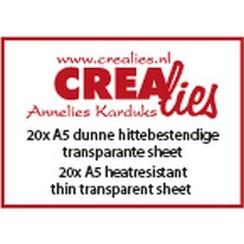 CLBSTR01 - Crealies Basics 20x A5 hittebestendig dunne transparant sheet CLBSTR02 20x A5