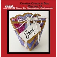 CCABM16 - Crealies Create A Box Mini no. 16 zakdoosje 16 8x4x10 cm