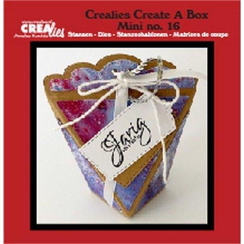 Crealies CCABM16 - Crealies Create A Box Mini no. 16 zakdoosje 16 8x4x10 cm