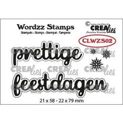 CLWZS02 - Crealies Clearstamp Wordzz prettige feestdagen (NL) 02 22x79 mm