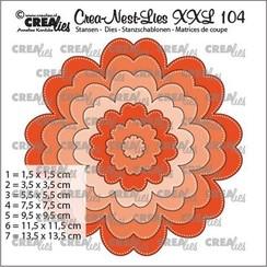 CLNestXXL104 - Crealies Crea-nest-dies XXL Bloem CLNestXXL104 13,5 x 13,5 cm