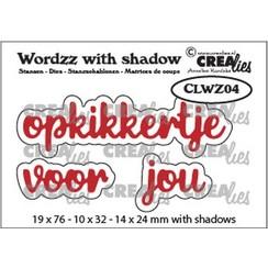 CLWZ04 - Crealies Wordzz with Shadow opkikkertje voor jou (NL) CLWZ04 19x76mm