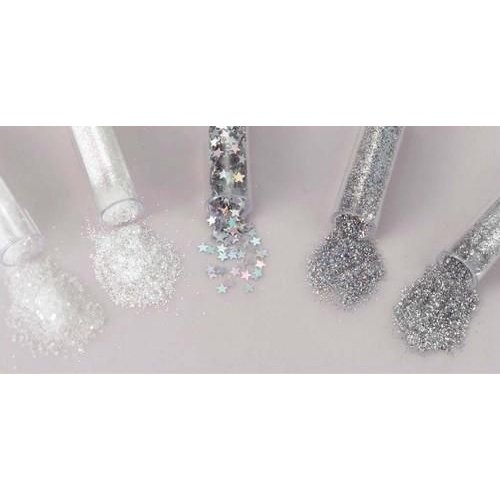 12086-8602 - Glitters Set 5x1,8grs,sneeuw wit