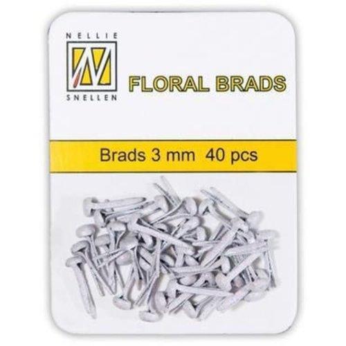 FLP-GB-002 - Floral Glitter Brads 3mm Wit