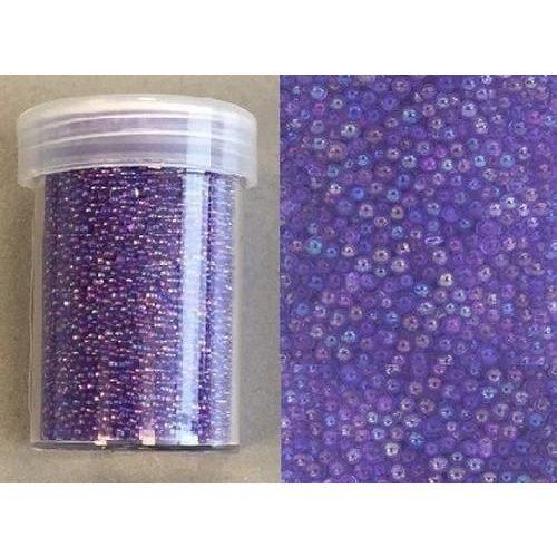 12342-4211 - Mini pearls (zonder gat) 0,8-1,0mm regenboog paars 22 gram -4211