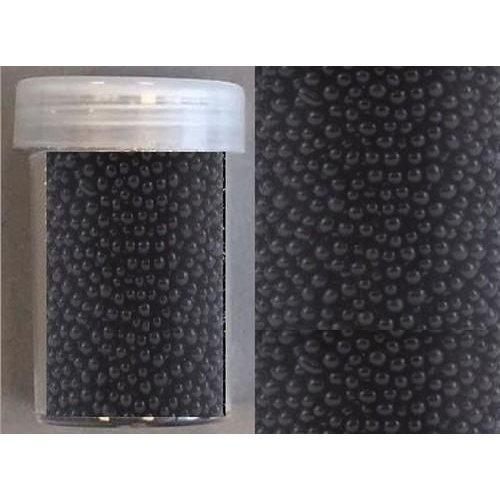 12342-4213 - Mini pearls (zonder gat) 0,8-1,0mm zwart 22 gram -4213