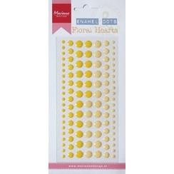 PL4516 - Decoration Enamal dots: Floral hearts