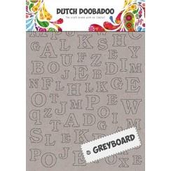 492500005 - DDBD Dutch Greyboard Alphabet  297 x 210mm