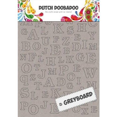 Nuvo 492500005 - DDBD Dutch Greyboard Alphabet  297 x 210mm