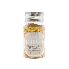 1069N - Nuvo Pure sheen confetti - sunset yellow butterflies 35ml bottle