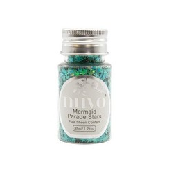 1072N - Nuvo Pure sheen confetti - mermaid parade stars 35ml bottle