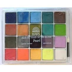118055/2111 - Chalk kit 20 kleuren pearl  16,5 x 13 cm