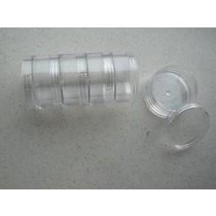 12294-9403 - Storage Boxes, 5 pcs/ stackable set, 50mm