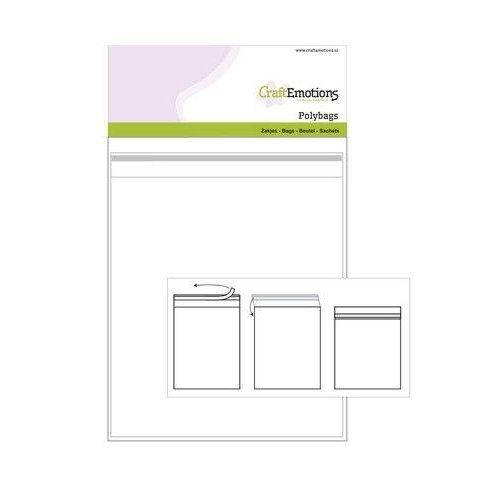 CraftEmotions 890005/1622 - CraftEmotions Zakjes zelfsluitend transparant 25st 160mmx220mm - Polybags