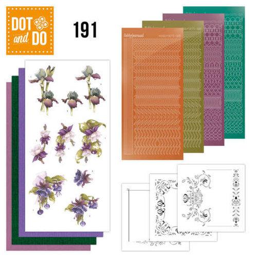 Dot en Do DODO191 - Dot and Do 191 - Precious Marieke - Pretty Flowers - Purple Flowers